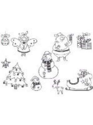 10 tampons Noël + 1 encreur