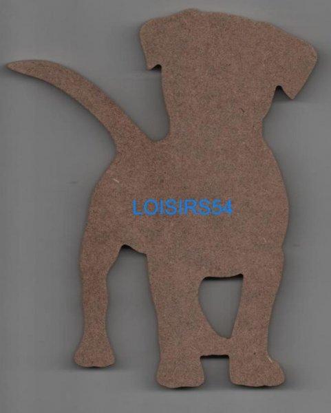 Chien en MDF 18 cm x 3 cm à décorer