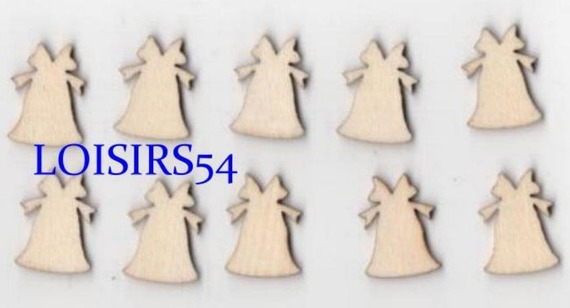 Cloches en bois 2 cm lot de 10 pièces pour décoration