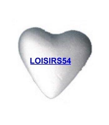 Coeur polystyrène blanc 7 cm à décorer  ou à peindre