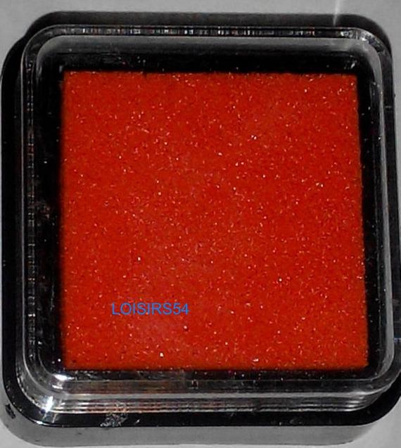 Encreur orange 25 mm pour décoration de cartes