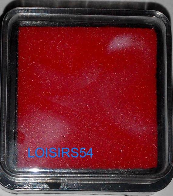 Encreur rouge 25 mm pour décoration de cartes