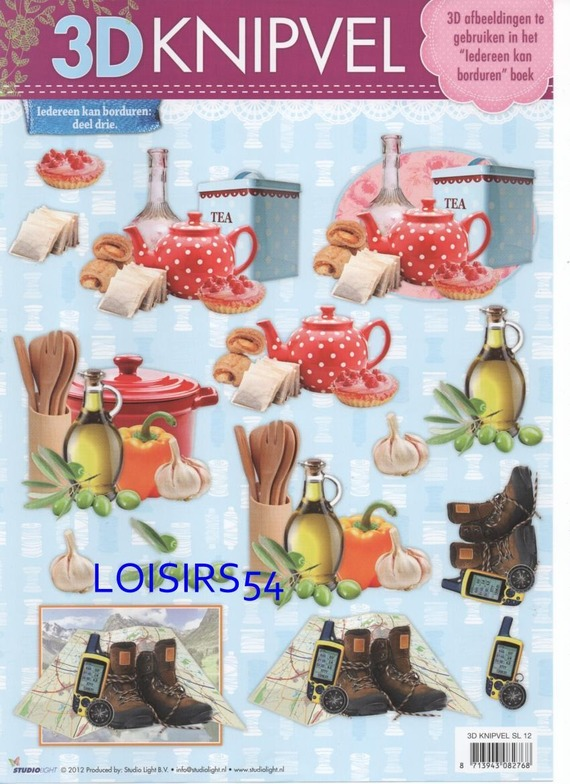 Feuille 3D thé et gateaux pour la décoration