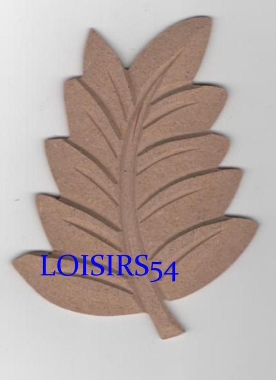 Feuille automne MDF12 cm à décorer