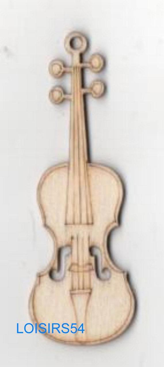 Guitare bois 70 mm x 25 mm à décorer