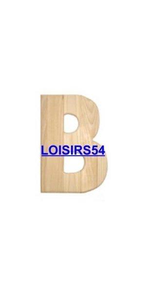 Lettre bois 1,85 cm B lot de 5 pieces