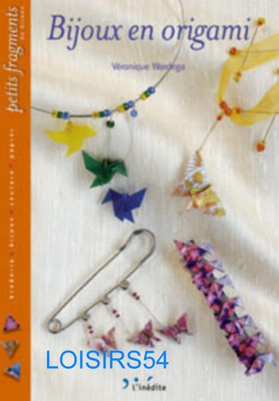 Livre bijoux en origami