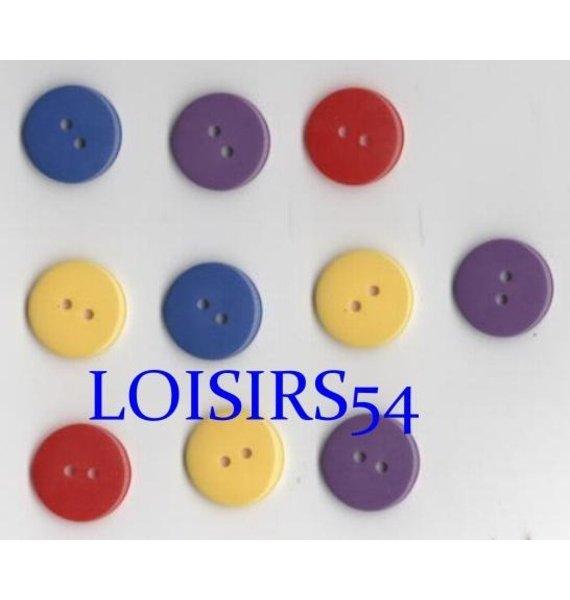 Lot de 10 boutons couleurs assortie de 22 mm pour la couture