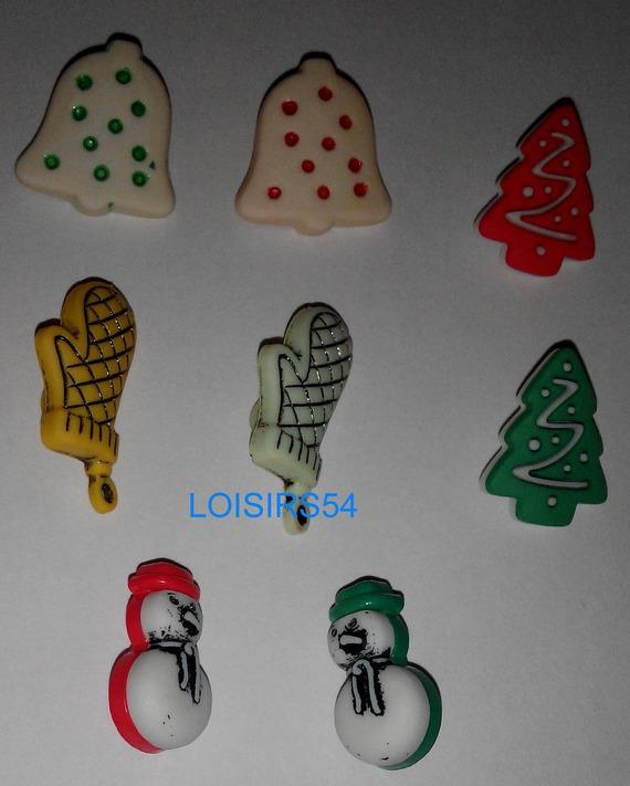 Lot de 8 boutons hiver plastique de 20 mm pour la couture