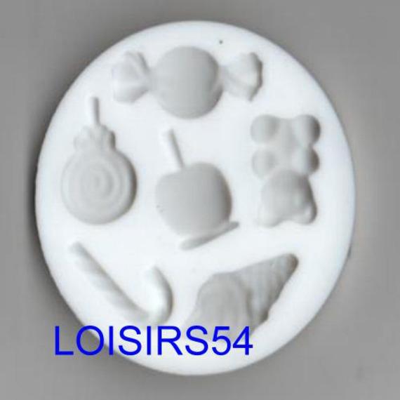 Moule silicone souple motif bonbons 6 pièces