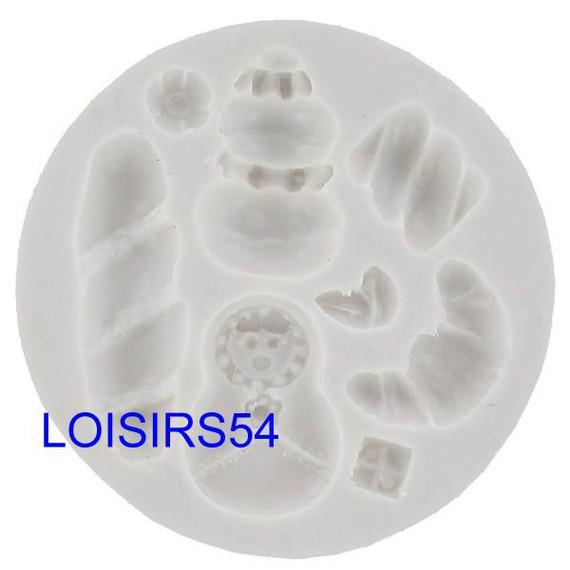 Moule silicone souple et épais motif gourmandises 8 pièces