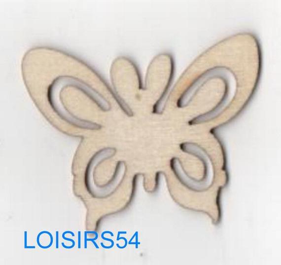 Papillon bois 35 mm x 50 mm à décorer