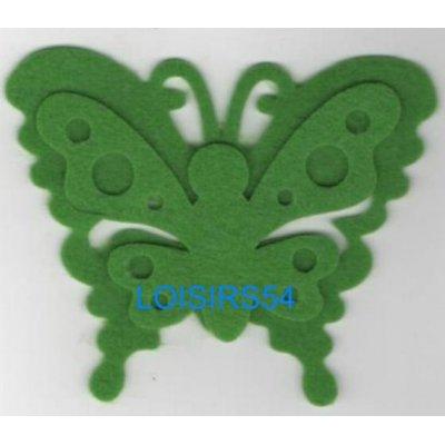 Papillon feutrine vert 100 mm x 60 mm