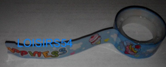 Ruban adhésif bleu et glace 1,5 cm x 400 cm