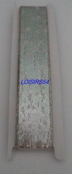 Ruban argenté 1,5 cm x 100 cm pour décoration scrap