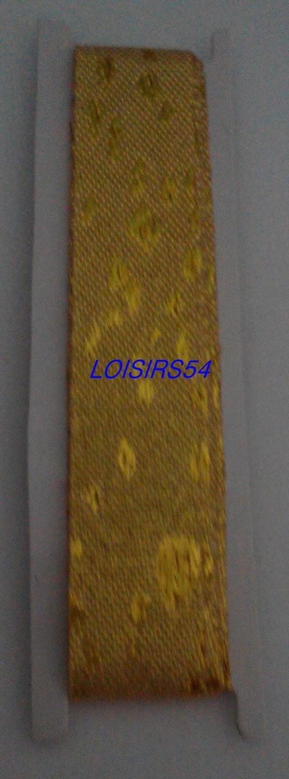 Ruban doré avec motif 1,5 cm x 100 cm pour décoration scrap
