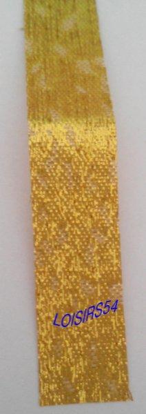 Ruban doré jaune 1,5 cm x 100 cm pour décoration scrap