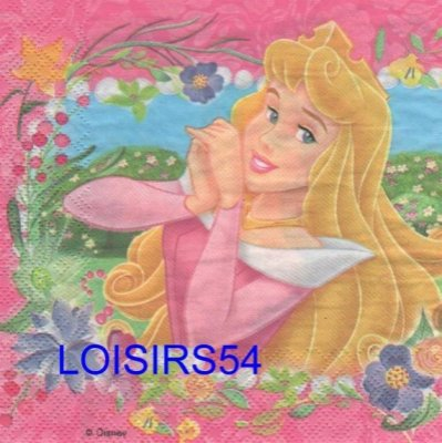Serviette papier 2 princesses