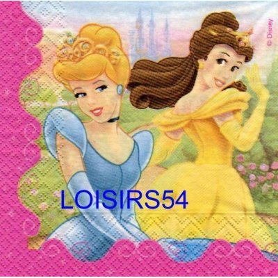 Serviette papier 4 princesses