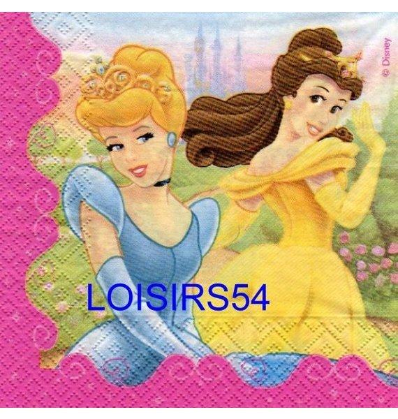 Serviette papier 4 princesses