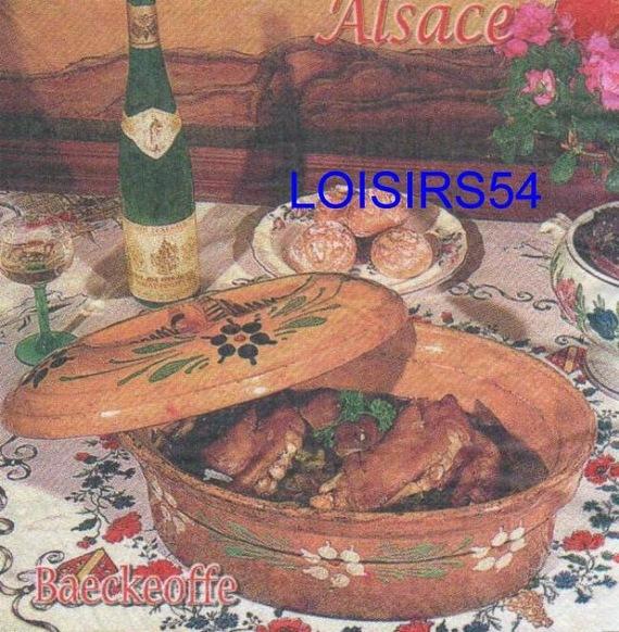 Serviette papier Alsace et cuisine