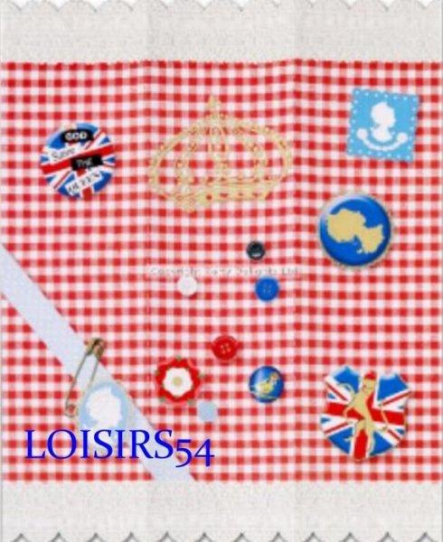 Serviette papier Angleterre et reine 33 cm x 38 cm