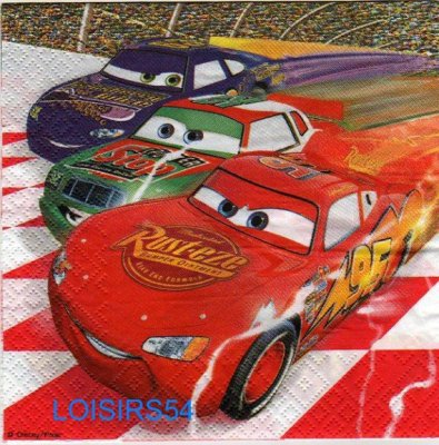 Serviette papier Car2 et Piston Cup