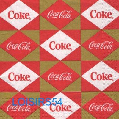 Serviette papier Cola  boisson- 33 cm x 33 cm