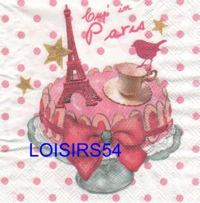 Serviette papier Cup in Paris et Londres