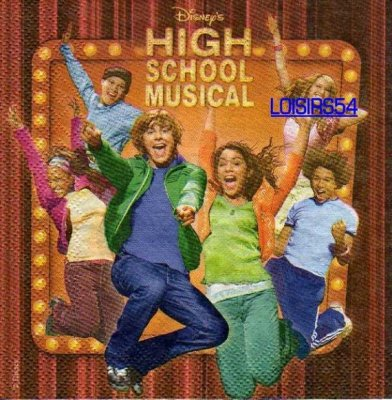 Serviette papier High School Musical.