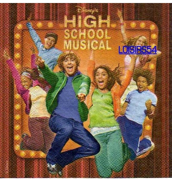 Serviette papier High School Musical.