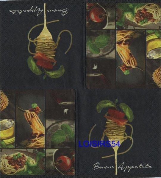 Serviette papier Italie et bolognaise - 33 cm x 33 cm