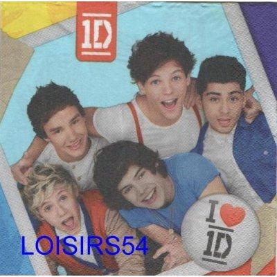 Serviette papier One Direction en photo
