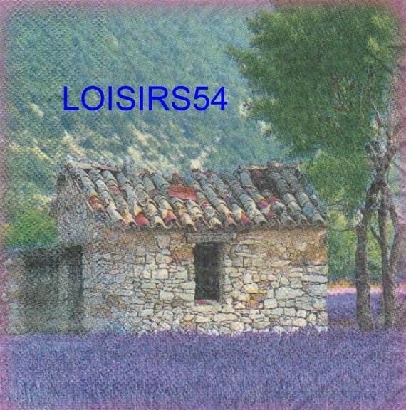 Serviette papier Provence et Lubéron