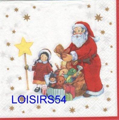 Serviette papier Père Noël et cadeaux