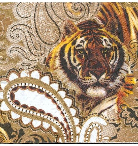 Serviette papier Tigre.