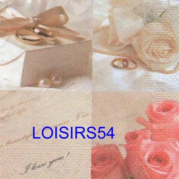 Serviette papier bijoux et roses