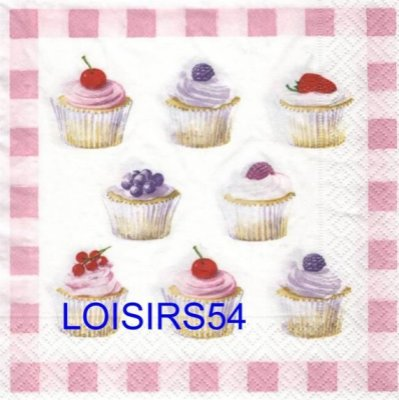 Serviette papier cupcakes aux fruits