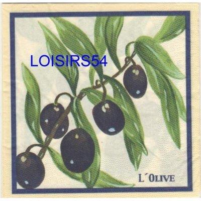 Serviette papier l'olive noire du Sud