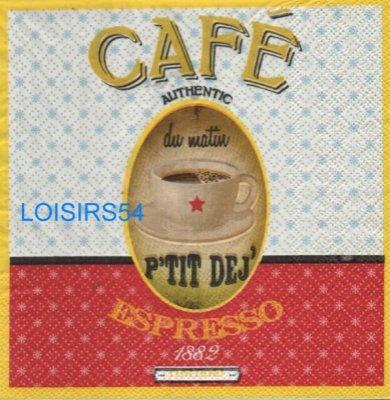 Serviette papier thé ou café - 33 cm x 33 cm
