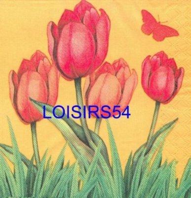 Serviette papier tulipe orange
