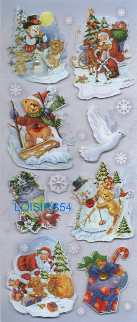 Stickers 3D autocollants Noël et Cadeaux pour décoration
