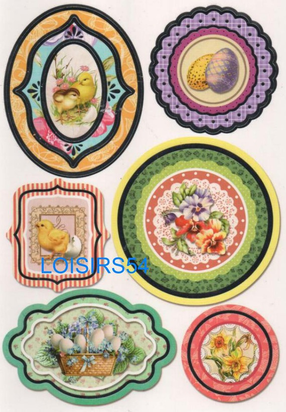 Stickers autocollant poussin et Pâques