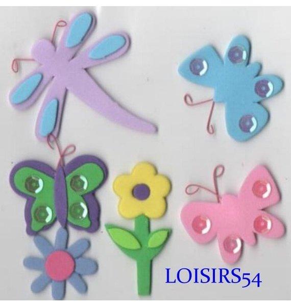 Stickers papillons autocollant mousse pour décoration