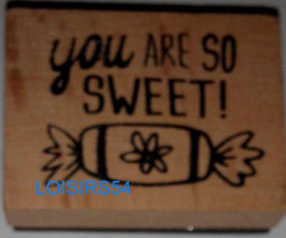 Tampon bois bonbon 4 cm x 3 cm