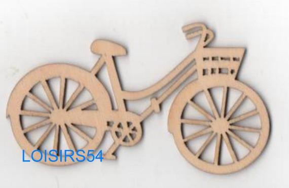 Vélo bois 90 mm x 40 mm à décorer