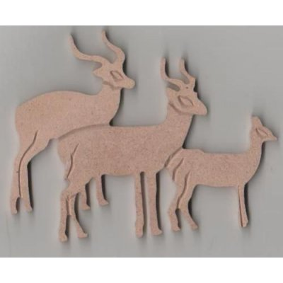 Antilopes MDF 100 mm 3 pieces