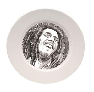 Assiette porcelaine blanche à personnalisé 25 cm
