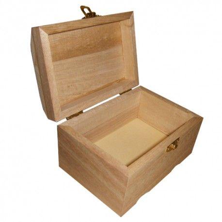 Bois brut Boîte à bijoux en bois 115 mm