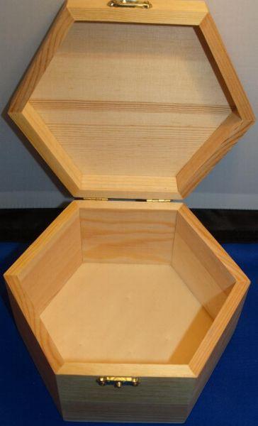 Bois brut bo te bijoux en bois 130 mm 110 mm x 65 mm - Fourniture loisirs creatifs ...